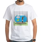 Fishbowl Hard Hat Diver White T-Shirt
