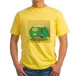 Fishbowl Hard Hat Diver Yellow T-Shirt