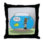 Fishbowl Hard Hat Diver Throw Pillow