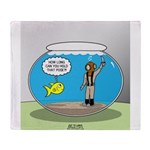 Fishbowl Hard Hat Diver Throw Blanket