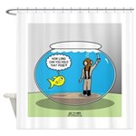 Fishbowl Hard Hat Diver Shower Curtain