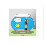 Fishbowl Hard Hat Diver Small Poster