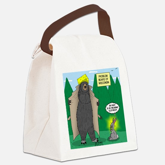 Problem Bears of Wisconsin Canvas Lunch Bag