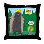 Problem Bears of Wisconsin Throw Pillow
