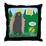Problem Bears of Wisconsin Throw Pillow
