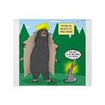 Problem Bears of Wisconsin Throw Blanket