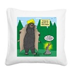 Problem Bears of Wisconsin Square Canvas Pillow