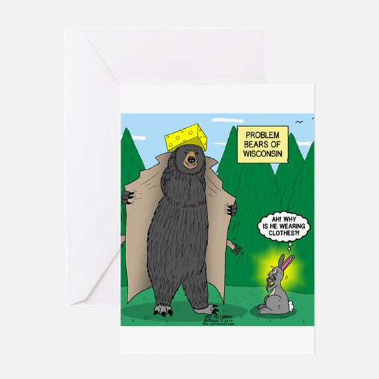 Problem Bears of Wisconsin Greeting Card