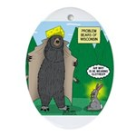 Problem Bears of Wisconsin Ornament (Oval)