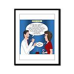 Dentist Dating Framed Panel Print