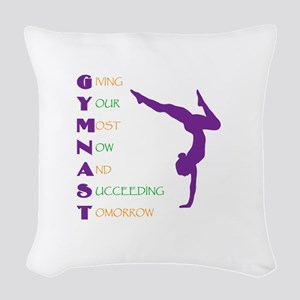 Gymnast Success Woven Throw Pillow