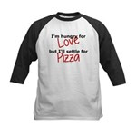 Hungry For Love And Pizza Kids Baseball Jersey