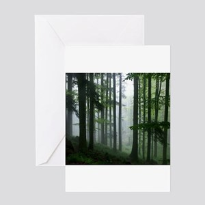 Amazon Rainforest in the Mist Greeting Cards