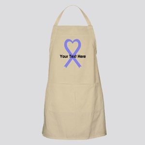 Personalized Periwinkle Ribbon Heart Apron