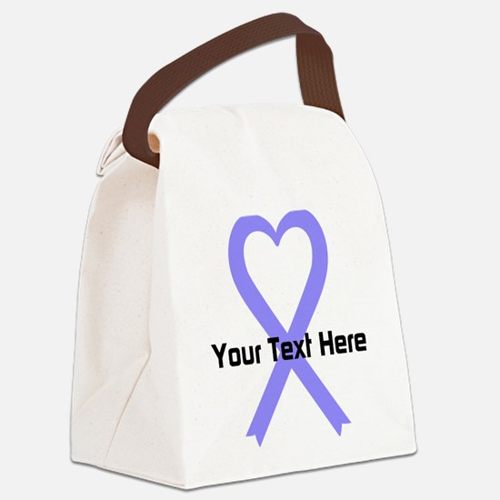 Personalized Periwinkle Ribbon He Canvas Lunch Bag