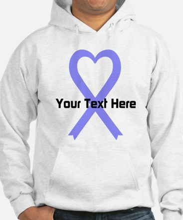 Personalized Periwinkle Ribbon H Hoodie