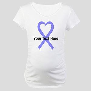 Personalized Periwinkle Ribbon H Maternity T-Shirt