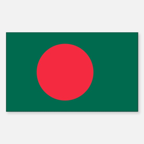 Bangladesh Flag Sticker (Rectangle)