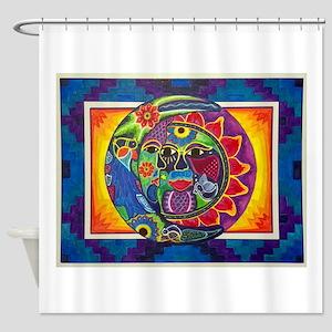 Aztec Sun And Moon Shower Curtain