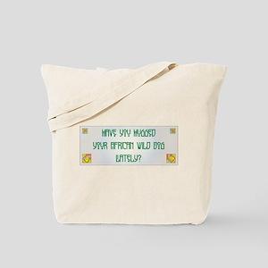 Hugged Wild Dog Tote Bag