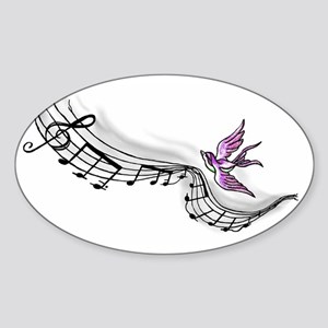 Flying Melody Sticker (Oval)
