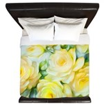 shabbychicyellowpillow King Duvet