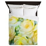 shabbychicyellowpillow Queen Duvet