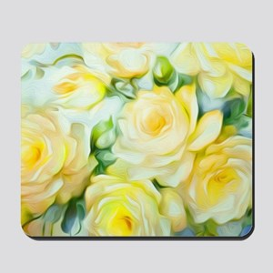 Shabby Chic Yellow Mousepad