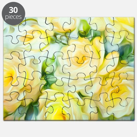 Shabby Chic Yellow Puzzle