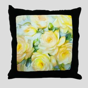 Shabby Chic Yellow Throw Pillow
