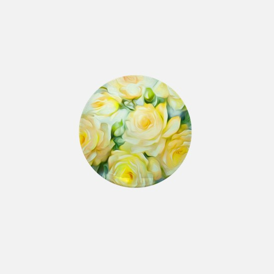 Shabby Chic Yellow Mini Button