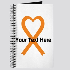 Personalized Orange Ribbon Heart Journal