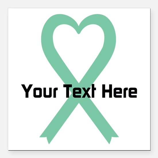 """Personalized Light Green Square Car Magnet 3"""" x 3"""""""