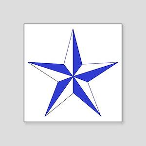 "Blue Star Square Sticker 3"" x 3"""