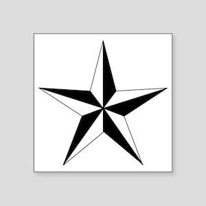 """Black And White Stars Square Sticker 3"""" x 3"""""""