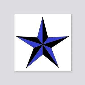 "Black And Blue Star Square Sticker 3"" x 3"""