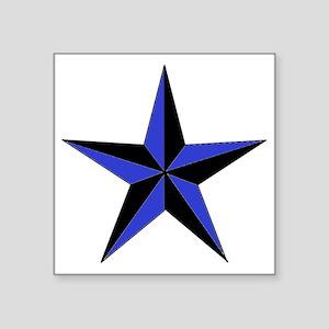 "Black And Blue Star Square Sticker 3"" x 3"""