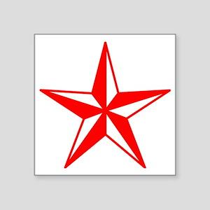 "Red Star Square Sticker 3"" x 3"""