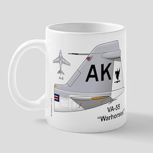 A-6 Intruder Va-55 Warhorses Mug Mugs