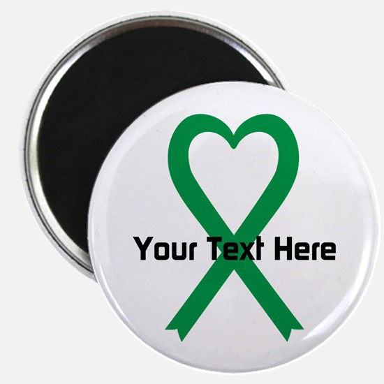 "Personalized Green Ribbon H 2.25"" Magnet (10 pack)"