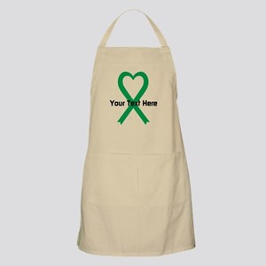 Personalized Green Ribbon Heart Apron