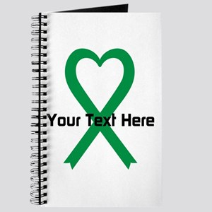 Personalized Green Ribbon Heart Journal