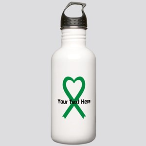 Personalized Green Rib Stainless Water Bottle 1.0L