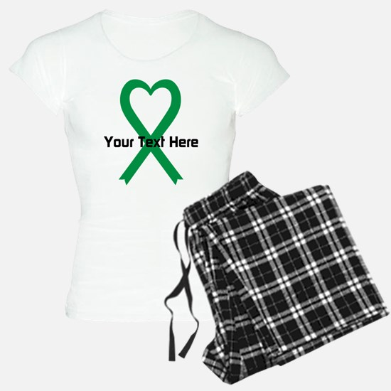 Personalized Green Ribbon H Pajamas
