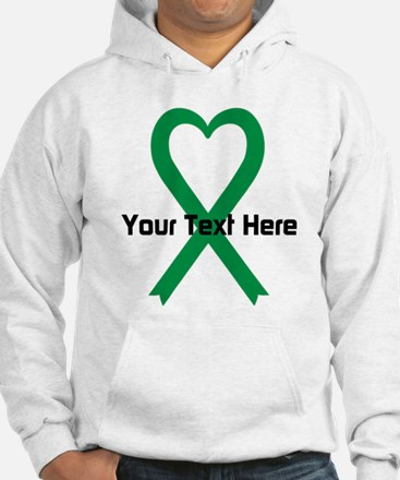 Personalized Green Ribbon Heart Hoodie