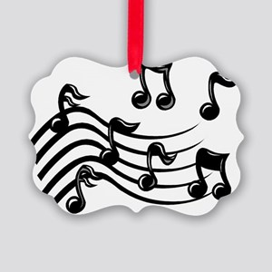 Music Notes Picture Ornament