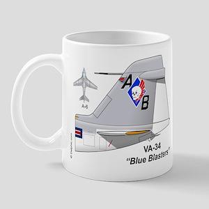 A-6 Intruder Va-34 Blue Blasters Mug Mugs