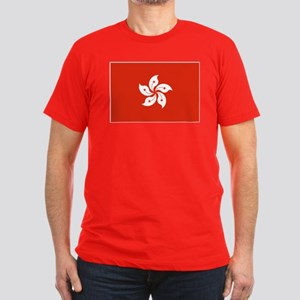 Hong Kong Flag Men's Fitted T-Shirt (dark)