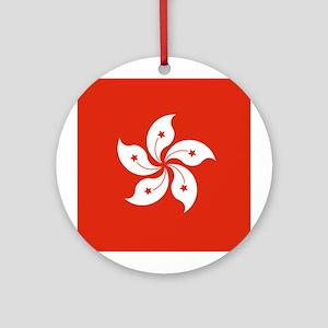 Hong Kong Flag Ornament (Round)