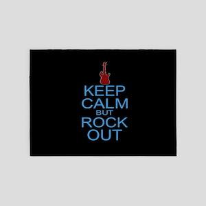 Keep Calm Rock Out 5'x7'Area Rug
